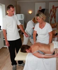 overbygning på massagen
