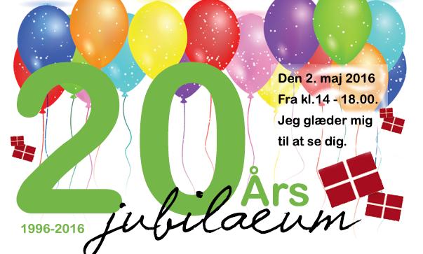 Invitation til 20 års jubilæum